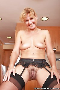 Hairy granny Inge from OlderWomanFun